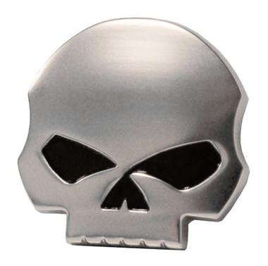 Harley-Davidson Antique Nickel Willie G Skull Medallion, 1.5 x 1.5 inch 14100228 - Wisconsin Harley-Davidson