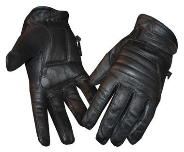 Redline Women's Soft Fleece Lining Motorcycle Leather Gloves, Black GL-56 - Wisconsin Harley-Davidson