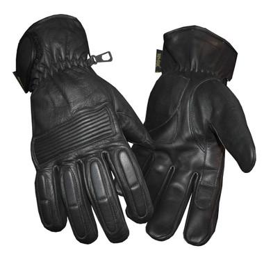 Redline Men's Winter Gloves w/ Kevlar Palms & Thinsulate Lining, Black G-050 - Wisconsin Harley-Davidson