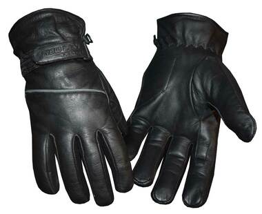 Redline Men's Reflective Piping Full-Finger Thinsulate Leather Gloves G-048 - Wisconsin Harley-Davidson