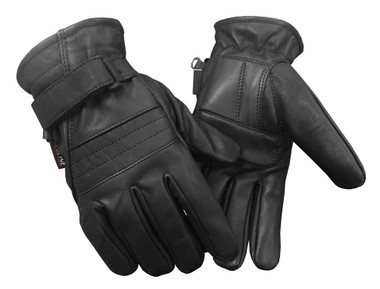 Redline Men's Anti-Vibration Gel Palm Gator Lining Leather Gloves, Black G-056GS - Wisconsin Harley-Davidson
