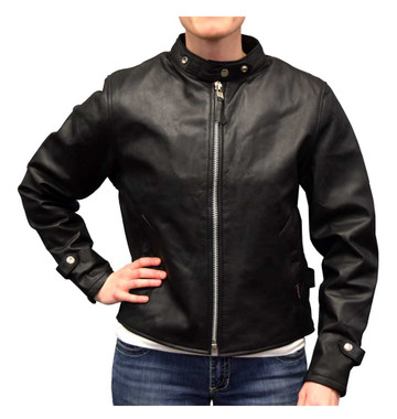 Redline Women's Goat Skin Leather Scooter Motorcycle Jacket, Black L-3000 - Wisconsin Harley-Davidson