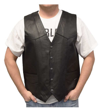 Redline Leather Men's Buffalo Leather Gun Pocket Motorcycle Riding Vest M-2265WO - Wisconsin Harley-Davidson