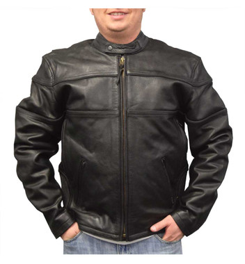 Redline Men's Cowhide Leather Motorcycle Jacket w/ Thinsulate Liner, Black M-100 - Wisconsin Harley-Davidson