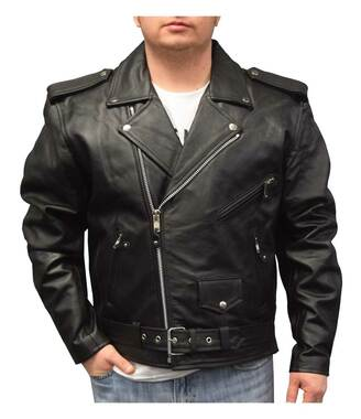 Redline Men's Mid-Weight Buffalo Lace Leather Motorcycle Jacket, Black M-700 - Wisconsin Harley-Davidson