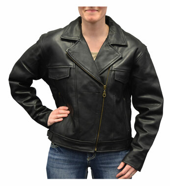 Redline Women's Naked Goat Skin Leather Motorcycle Jacket, Black L-HARLEY - Wisconsin Harley-Davidson