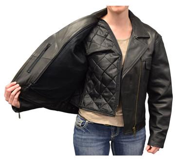 Redline Women's Naked Goat Skin Leather Motorcycle Jacket, Black L-HARLEY - Wisconsin Harley-Davidson