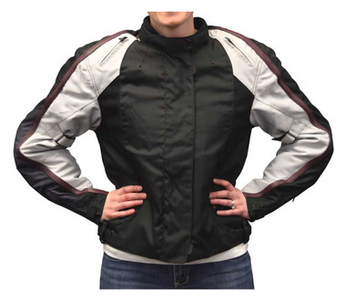 Redline Women's Body Armor Racing Colorblocked Nylon Jacket, Black L-2455 - Wisconsin Harley-Davidson
