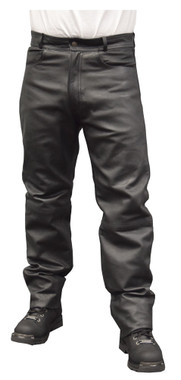 Redline Mens Classic Waterproof Leather Motorcycle Fully Lined Pants M-1500WP - Wisconsin Harley-Davidson