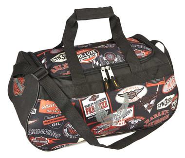 Harley-Davidson Logo Sport Light-Weight Duffel Bag, 20 x 9 x 10 inch 99418 LOGO - Wisconsin Harley-Davidson