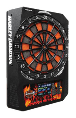 Harley-Davidson Bar & Shield Flaming Electronic Dart Board, 18 x 24 inch 61969 - Wisconsin Harley-Davidson