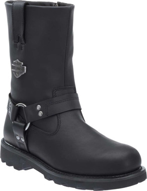 Harley-Davidson Men's Mansfield Black Performance Motorcycle Boots D96112 - Wisconsin Harley-Davidson