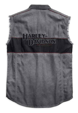 Harley-Davidson Men's Iron Block Sleeveless Blowout Shirt, Black 99019-17VM - Wisconsin Harley-Davidson