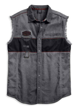 Harley-Davidson Men's Iron Block Sleeveless Blowout Shirt, Black 99019-17VM - Wisconsin Harley-Davidson