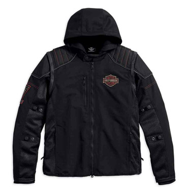 Harley-Davidson Men's Sully 3-IN-1 Convertible Mesh Riding Jacket 98176-17VM - Wisconsin Harley-Davidson