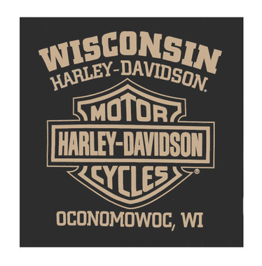 Harley-Davidson Men's Pure Power V-Twin Short Sleeve T-Shirt, Charcoal Gray - Wisconsin Harley-Davidson