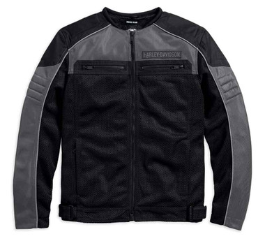 Harley-Davidson Men's Toil Collarless Colorblocked Mesh Riding Jacket 98185-17VM - Wisconsin Harley-Davidson