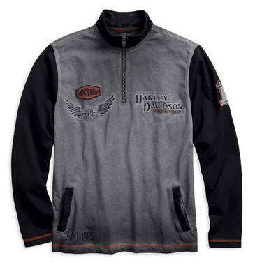 Harley-Davidson Men's Iron Block Colorblocked 1/4-Zip Pullover 99009-17VM - Wisconsin Harley-Davidson