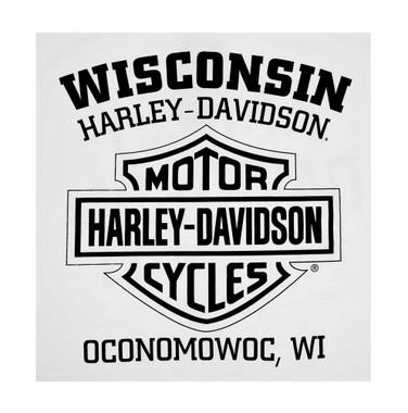 Harley-Davidson Men's Bonita Sugar Skull Short Sleeve Crew Neck T-Shirt, White - Wisconsin Harley-Davidson
