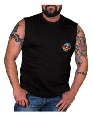 Harley-Davidson Men's Legendary Strength Chest Pocket Sleeveless Tee, Black - Wisconsin Harley-Davidson