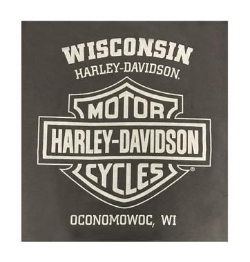 Harley-Davidson Men's Almighty Speed & Power Short Sleeve T-Shirt, Tar - Wisconsin Harley-Davidson
