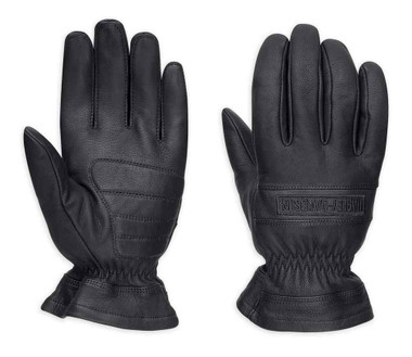 Harley-Davidson Men's Commute Full-Finger Leather Gloves, Black 98378-17VM - Wisconsin Harley-Davidson