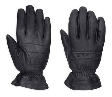 Harley-Davidson Men's Commute Full-Finger Leather Gloves, Black 98378-17VM - Wisconsin Harley-Davidson