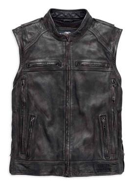 Harley-Davidson Men's Dauntless Convertible Leather Jacket, Black 98133-17VM - Wisconsin Harley-Davidson