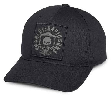 Harley-Davidson Men's Willie G Skull & Shield Patch Baseball Cap 99492-17VM - Wisconsin Harley-Davidson