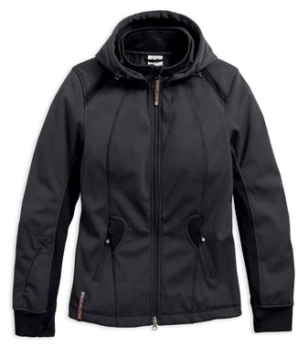Harley-Davidson Women's Wind-Resistant Soft Shell Mid-Layer Jacket 98584-17VW - Wisconsin Harley-Davidson