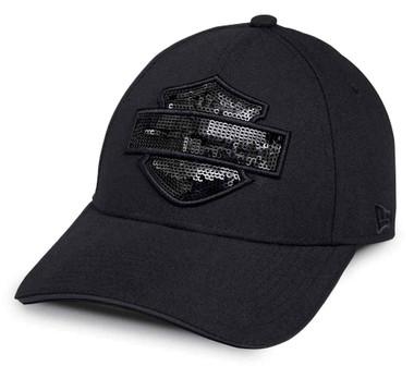 Harley-Davidson Women's Tonal Sequin B&S Logo Baseball Cap, Black 99574-17VW - Wisconsin Harley-Davidson