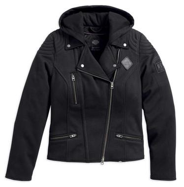 Harley-Davidson Women's Black Label Reinforced Riding Hooded Jacket 98199-17VW - Wisconsin Harley-Davidson