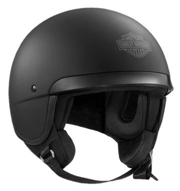 Harley-Davidson Men's B&S Hightail B09 5/8 Helmet, Matte Black 98179-17VX - Wisconsin Harley-Davidson