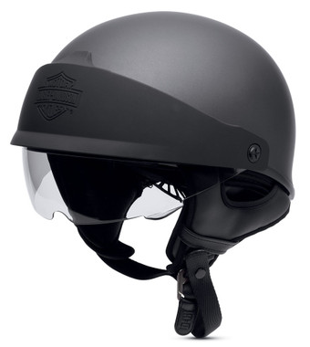 Harley-Davidson Men's Roam Adjustable Fit Low Profile J06 Half Helmet 98188-17VX - Wisconsin Harley-Davidson
