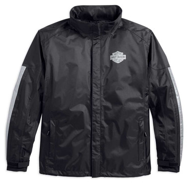 Harley-Davidson Men's Waterproof & Breathable Rain Jacket, Black 98191-17VM - Wisconsin Harley-Davidson