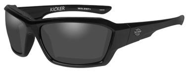 Harley-Davidson Men's Kicker Sunglasses, Smoke Gray Lens/Black Frame HAKIC01 - Wisconsin Harley-Davidson