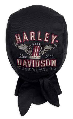 Harley-Davidson Men's Performance Winged #1 Knit Skull Cap, Black 99489-17VM - Wisconsin Harley-Davidson