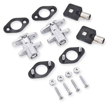 Harley-Davidson Universal Saddlebag Lock Kit, Set of Two Keys & Locks 90300017 - Wisconsin Harley-Davidson