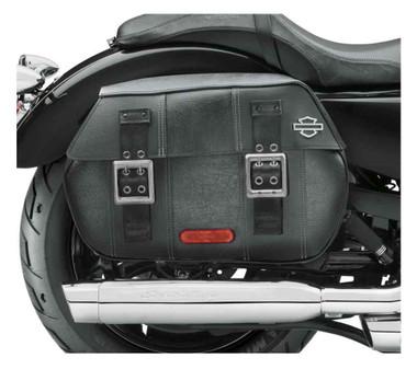 Harley-Davidson Black Distressed Leather Saddlebags, Fits XL Models 90201306 - Wisconsin Harley-Davidson