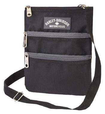Harley-Davidson Women's  X-Body Crossbody Sling Purse, Black 99616-BLK - Wisconsin Harley-Davidson