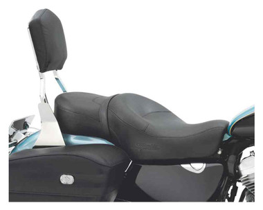 Harley-Davidson Sundowner Rider & Pillion Seat, Fits '83-'03 XL Models 51544-01A - Wisconsin Harley-Davidson