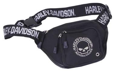Harley-Davidson Willie G Skull Logo Belt Bag, Water-Resistant, Black 99426-SKULL - Wisconsin Harley-Davidson