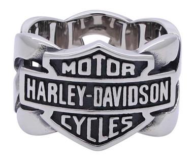 Harley-Davidson Men's Bar & Shield Stainless Steel Chain H-D Ring HSR0029 - Wisconsin Harley-Davidson