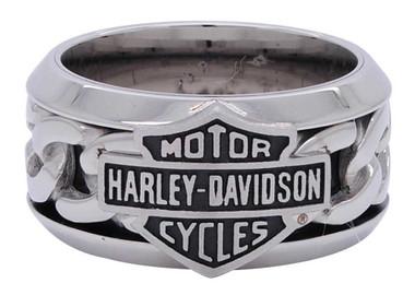 Stainless Steel H-D Bolt Style Ring HSR0018 Harley-Davidson Men/'s Ring