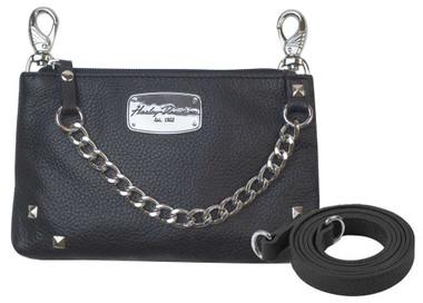 Harley-Davidson Women's Chain Gang Leather Hip Bag w/ Strap, Black CG2364L-BLK - Wisconsin Harley-Davidson