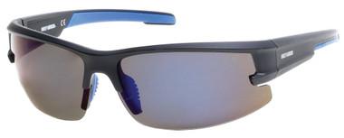 Harley-Davidson Men's Semi-Rimless Mirror Polarized Sunglasses, Blue Flash Lens - Wisconsin Harley-Davidson