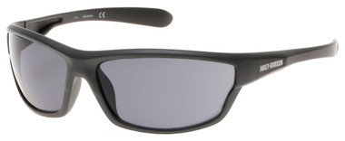 Harley-Davidson Men's Plastic Wrap H-D Sunglasses, Matte Gray & Smoke Gray Lens - Wisconsin Harley-Davidson