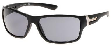 Harley-Davidson Men's Plastic Wrap Sunglasses, Matte Black Frame & Smoke Lens - Wisconsin Harley-Davidson