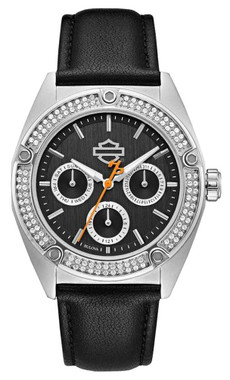 Harley-Davidson Women's Crystal Embellished Stainless Steel Case Watch 76N102 - Wisconsin Harley-Davidson