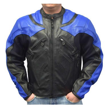 Redline Men's Racing Body Armor Jacket, Naked Buffalo Hide Leather M-YBR - Wisconsin Harley-Davidson